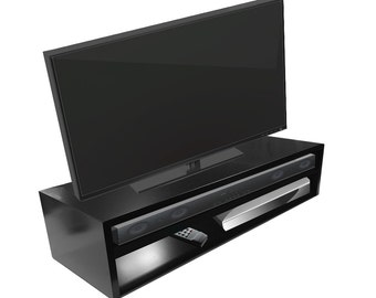 Tabletop TV Stand/Riser-Deluxe for Flat Screen (Black)   RIZERvue