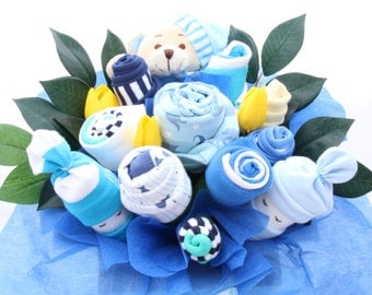 Flower Clothing Bouquet, Kids, Baby Boy Bouquet, Baby Shower Gift, Baby Boy Gift, Baby Bouquet,Newborn Baby Gift,  makeforgood