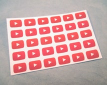 YouTube Play Button Planner Stickers