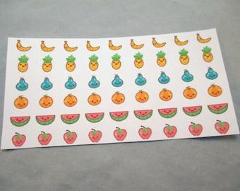 Kawaii Fruit Stickers