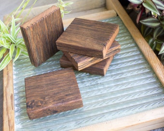 Last 3 - Handmade Reclaimed Wood Coasters Small Trivet Rustic Kitchen Home Office Decor Recycled Fence Paling Aged Weathered Shabby Salvage