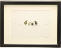 Pebble art picture Birds
