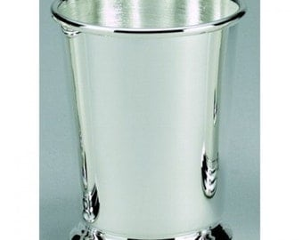 "Item 021072 - Engraved Mint Julep Cup, SP 11 Oz Cap 4"" H"