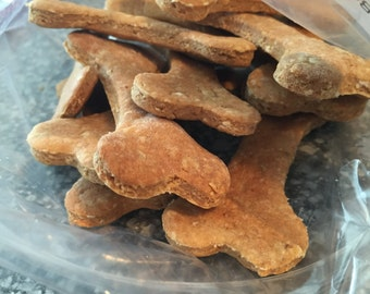 Peanut Butter and Ginger Bones. Tasty Homemade Dog Treats!