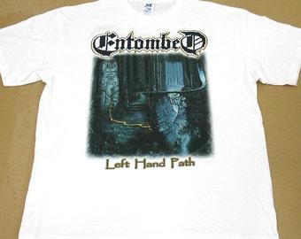 Entombed, Left Hand Path, T-shirt 100% Cotton
