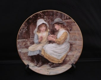 Retro Decorative Plate Wedgewood 'Yesterdays Child' bone china