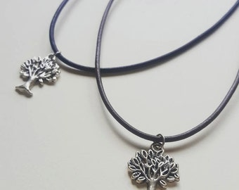 Tree Of Life Leather Choker Necklace