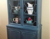 Custom Painted Small China Cabinet