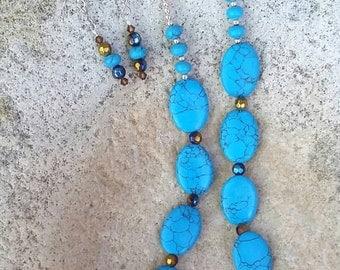 Sleeping Beauty Turquoise Necklace Set