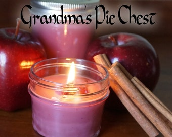 Grandma's Pie Chest 4 oz scented soy mason jar candle // Hand-poured // small batch // Great for Mother's Day