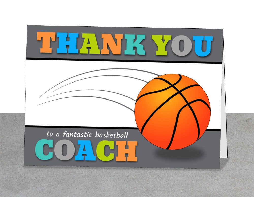 thank you card for basketball coach zazzle