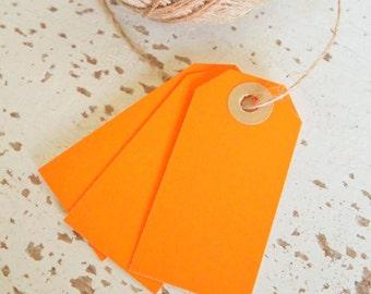 Parcel Tags Pk10 - Neon Orange
