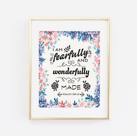 I Am Fearfully And Wonderfully Made Psalm 139 14 Nursery