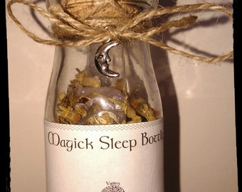 Magick Sleep Bottle * Contains Stones, Crystals and Herbs * Calming/Relaxation *