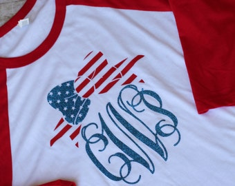 4th of july shirt personalized monogram