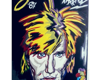 Hand-painted Andy Warhol Canvas