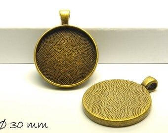 Cabochon versions / Medallion Ø 30 mm bronze