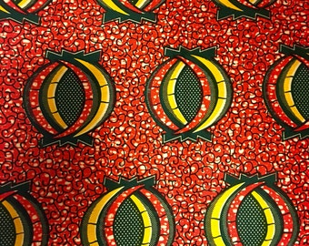 African wax print/ Ankara Print/ Sold by the yard/ Total of 6 yards