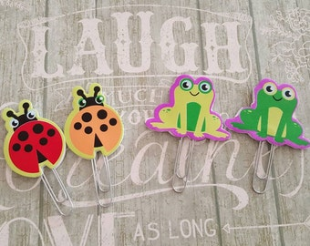 Cute lady bug or frog planner clip