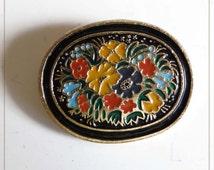 Russian ornament - Soviet Pin Badge.