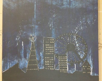 Painting acrylic on canvas: April night