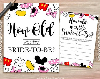 How Old Was The Bride To Be Game - Printable Bridal Shower Game  - Bridal Shower Party Game - Hens Party Game - Bachelorette Party Games 009