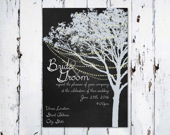 Light Tree Wedding Invitation