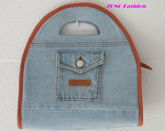 Recycled jeans handbag