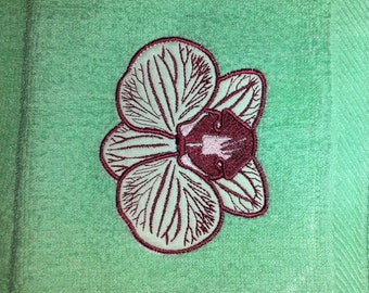 15 designs + gift! Machine embroidery design set Orchid