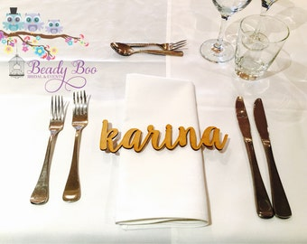 Personalised Wedding Place Cards | Guest Names |  Laser Cut Names | Custom Wedding Signs | Wooden Place Names | Arcylic Place Names