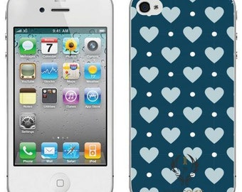 Polka dot iphone case cover 4 4s valentine hearts