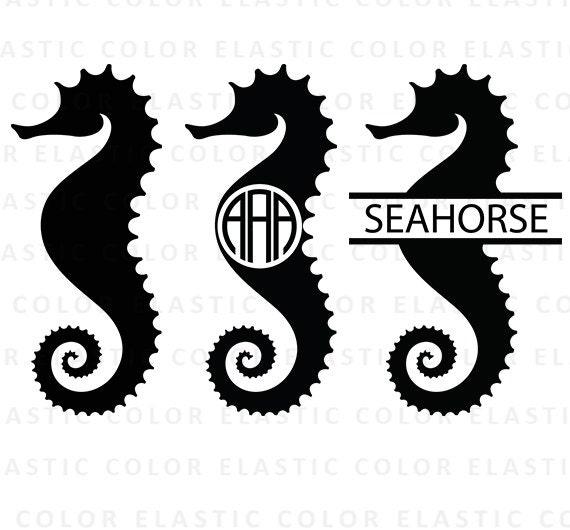 seahorse svg sea horse clipart seahorse monogram vector
