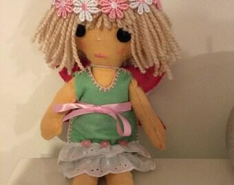 Hand sewn felt fairy doll