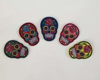 Set 5 PCs-Sugar Skull Iron-On patch