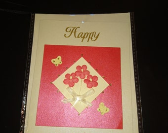 Handmade Happy Birthday card for her