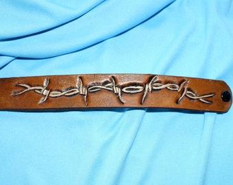 leather barbwire bracelet mv228
