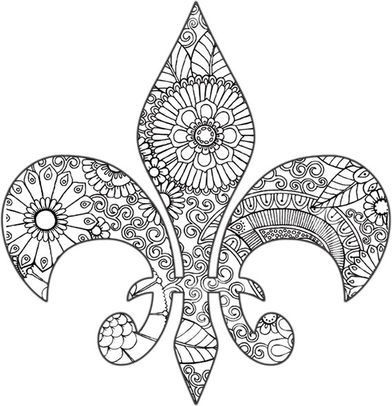 fleur de lis coloring pages - photo#16