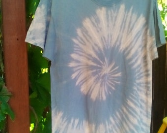 Large Spiral Bleach Tie dye tshirt