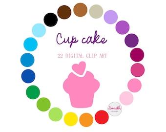CUPCAKE Digital Clip Art