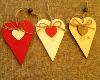wooden heart for shabby chic décor