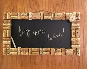 Wine cork chalkboard