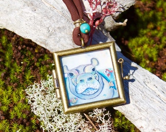 Peaceful Pachy Locket Necklace