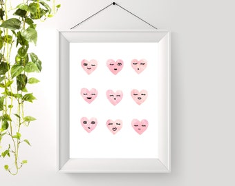 Printable Moody Hearts Poster - Digital Art - Instant Download