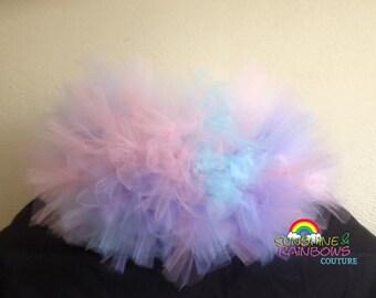 Cotton Candy Ultra Fluffy Birthday Petti Tutu Light Weight Children Photography Prop