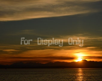 Puget Sound Sunset Canvas