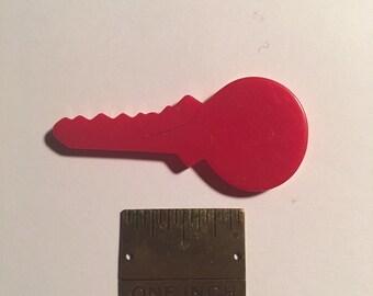 Vintage Bakelite Red Key Finding