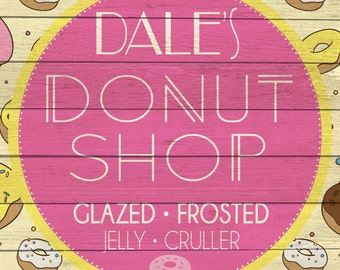 Custom Donut Shop Sign Digital Download