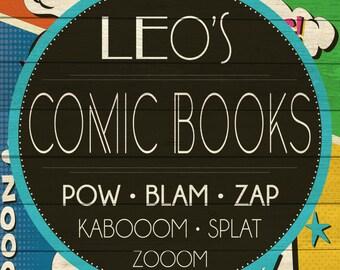 Custom Comic Books Sign Digital Download