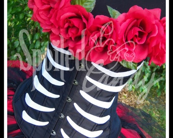 SUGAR SKULL QUEEN Day of the Dead Inspired Tutu and Corset with Top Hat