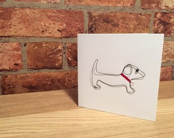 Dachshund Wire Greeting Card